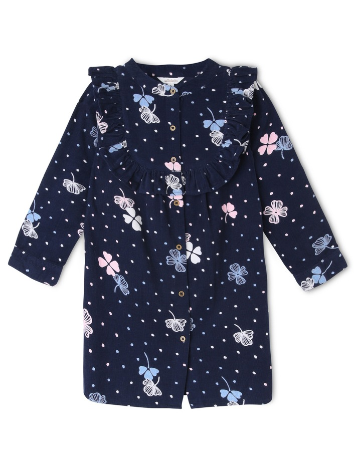 Long Sleeve Baby Cord Shirt Dress image 2