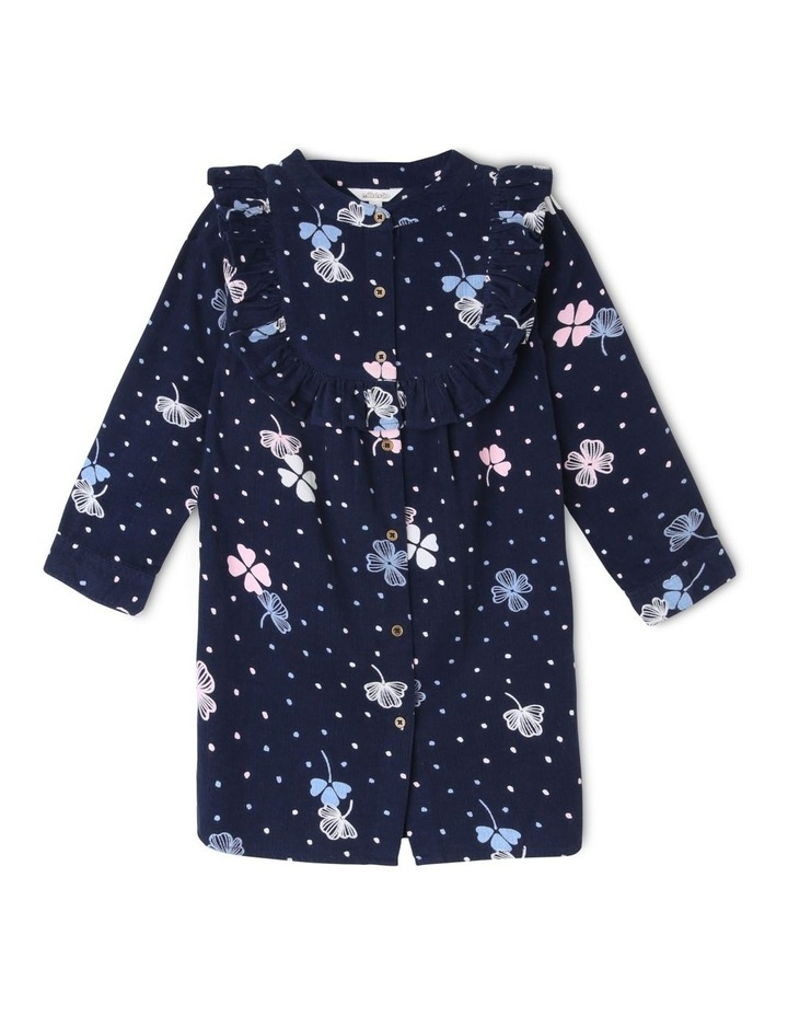 Long Sleeve Baby Cord Shirt Dress image 1