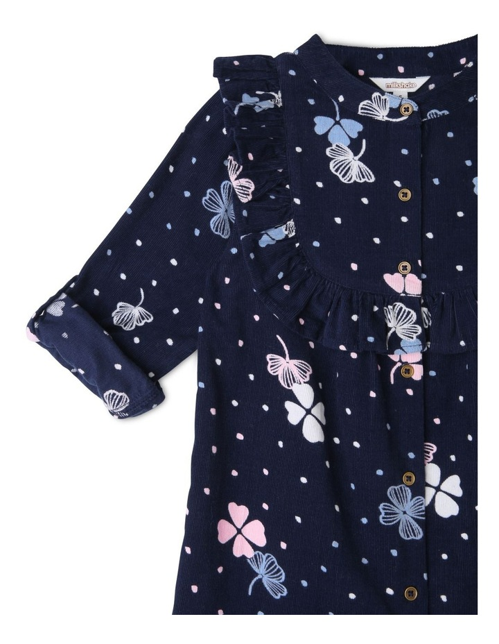 Long Sleeve Baby Cord Shirt Dress image 3