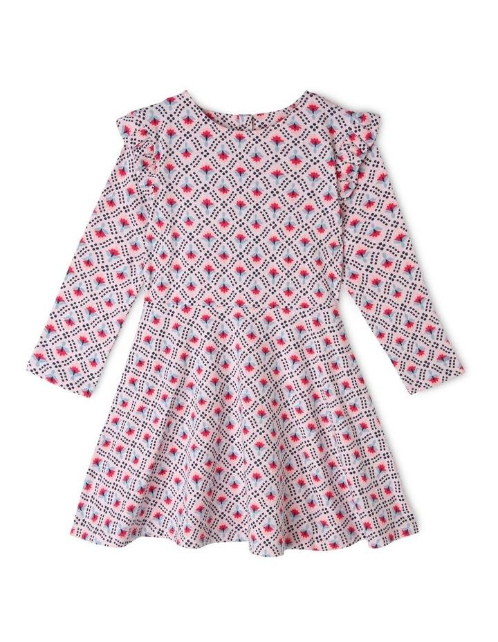 Long Sleeve Knit Skater Dress image 1
