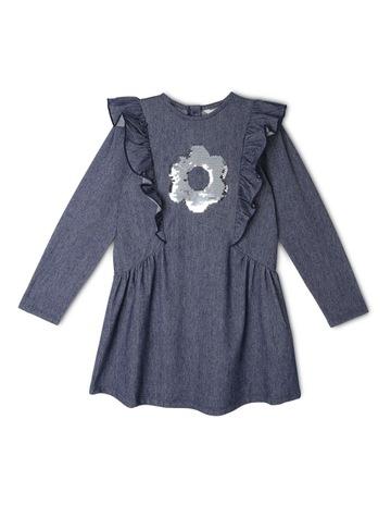 6f700012559 Milkshake Long Sleeve Knit Denim Dress