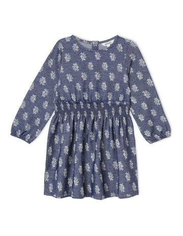 8291e6039b780 Milkshake Long Sleeve Knit Denim Dress