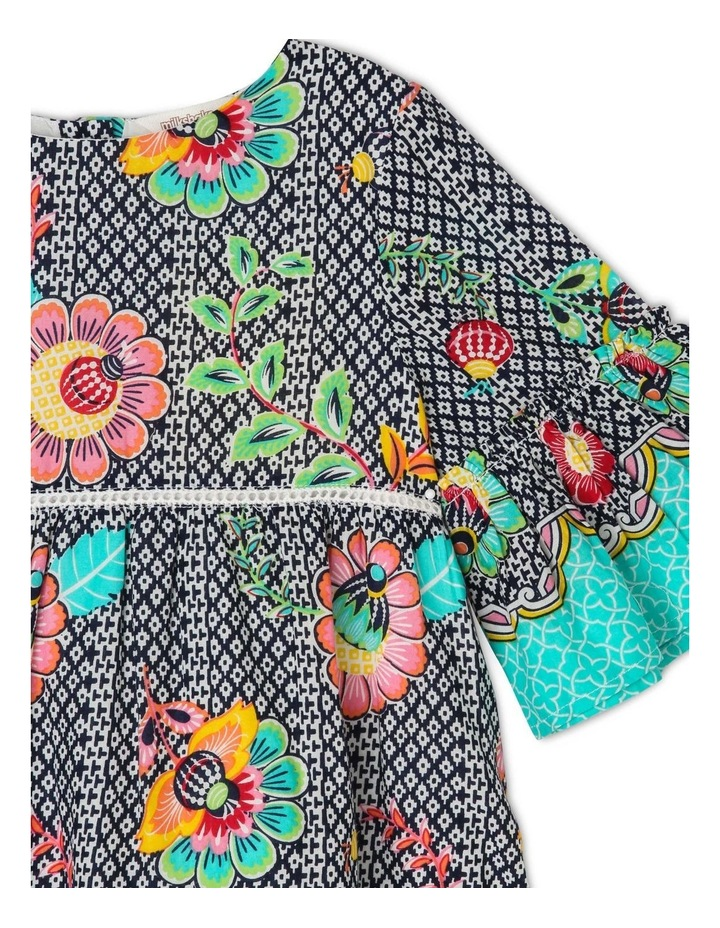 Woven Dress with Bell Sleeve image 2