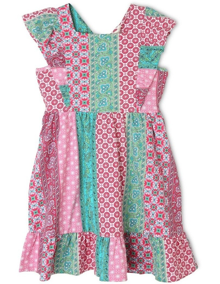 Pinafore Dress with Frill Sleeve image 1
