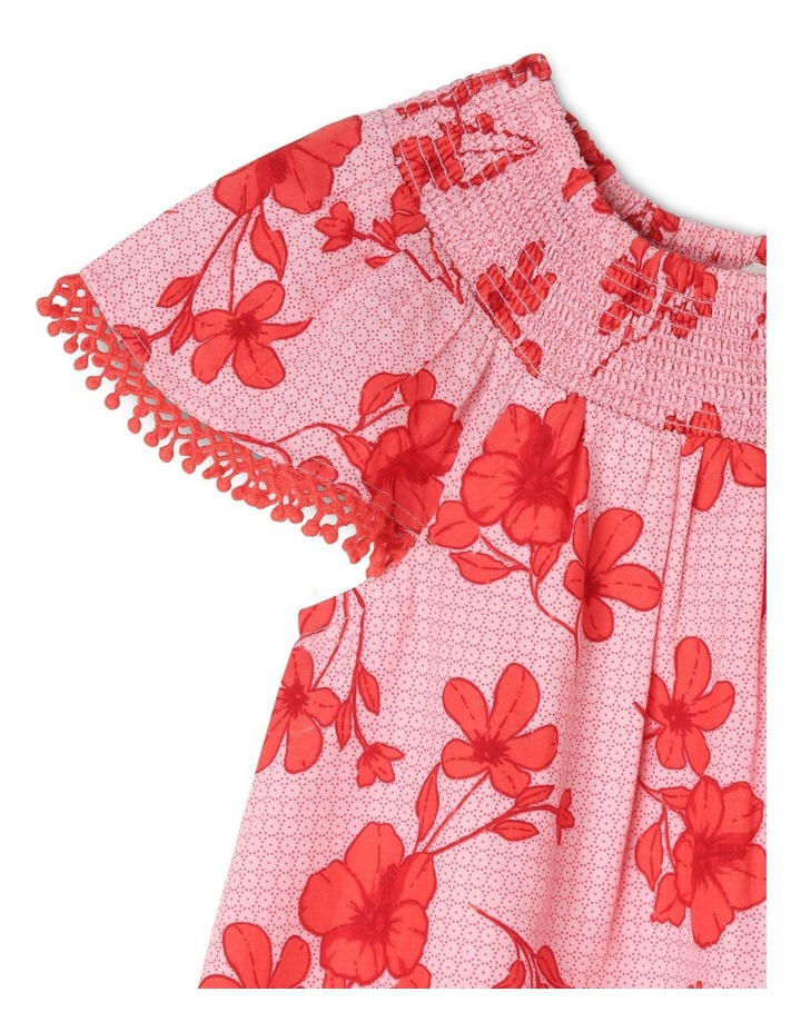 Woven Dress With Flutter Sleeve image 2