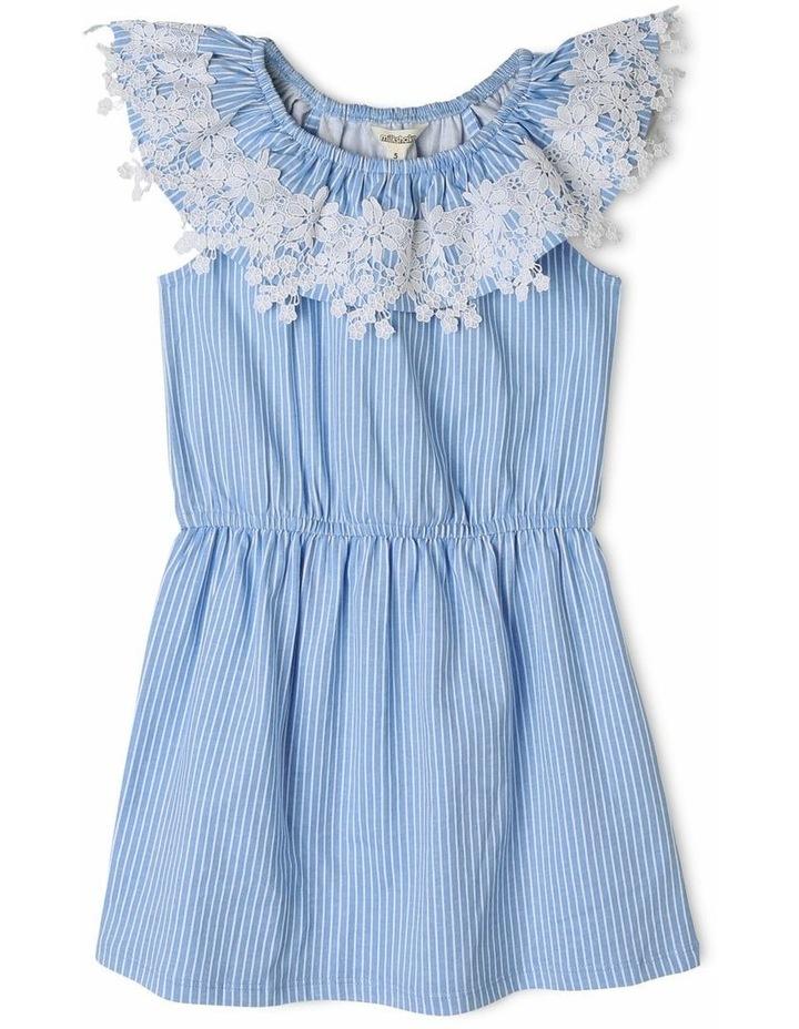 Striped Knit Frill Dress image 1
