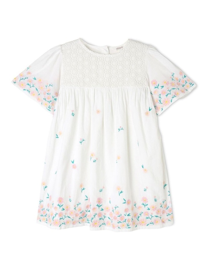 Broderie Sleeve Woven Dress image 1