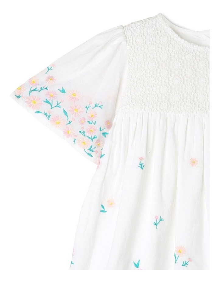 Broderie Sleeve Woven Dress image 2