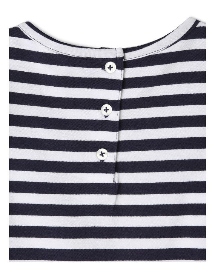 Knit Stripe Dress with Pom Pom Sleeves image 4