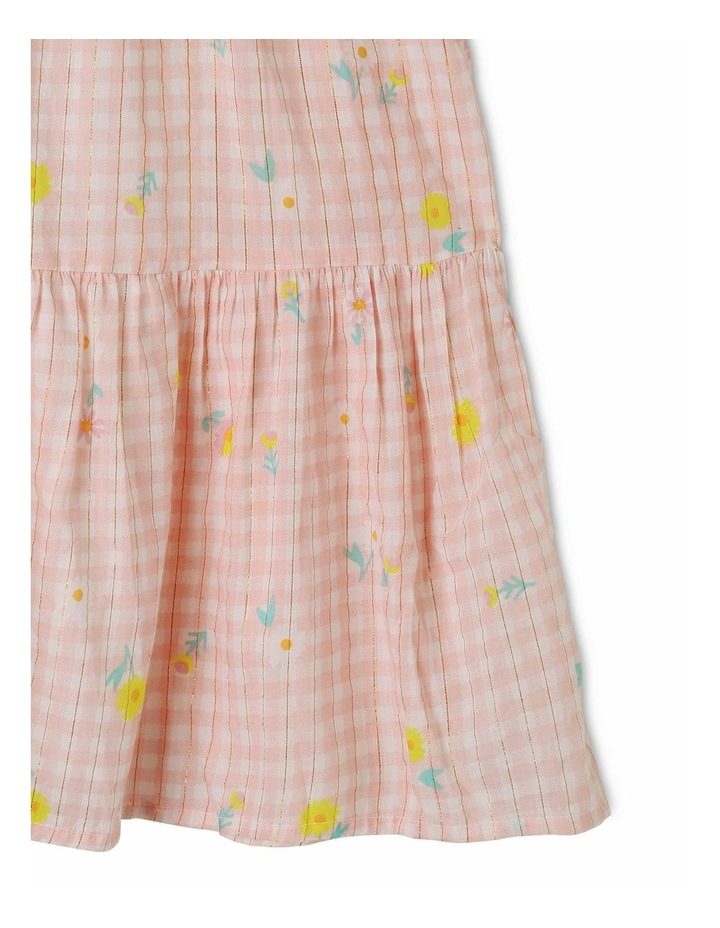 Woven Lurex Tiered Gingham Dress image 3