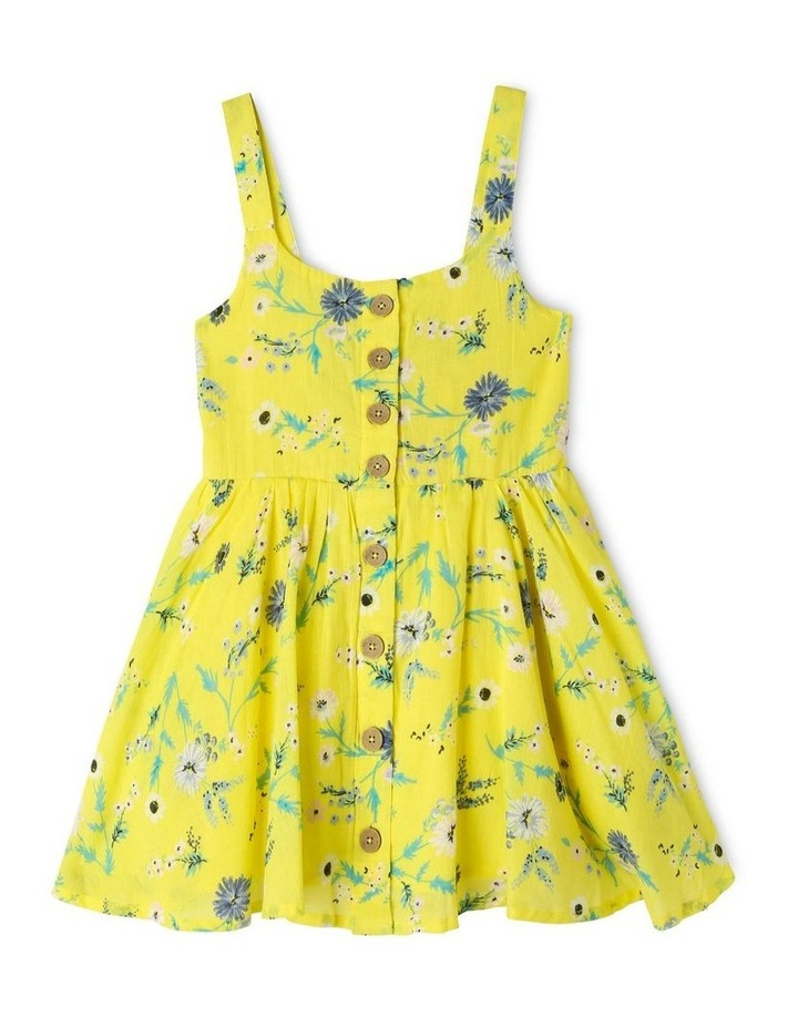 Woven Button Down Dress with Floral Print image 1