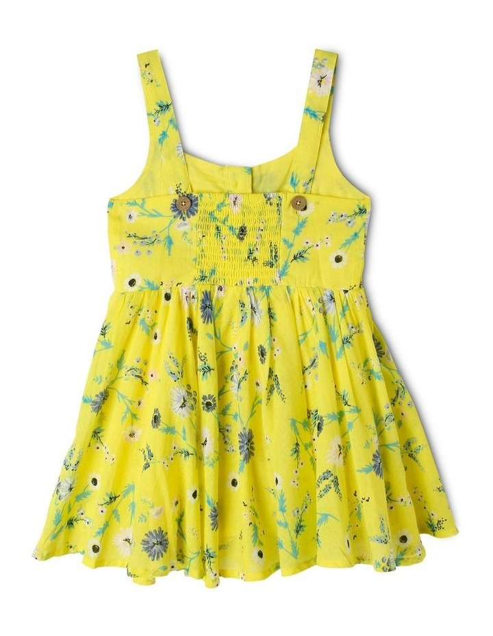 Woven Button Down Dress with Floral Print image 2