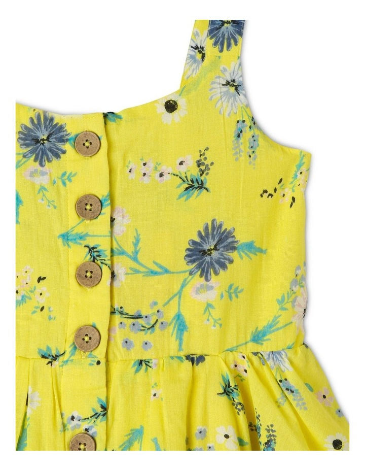 Woven Button Down Dress with Floral Print image 3