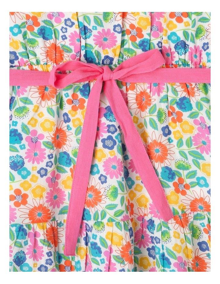 Woven Frill Neck Tie Waist Dress image 3
