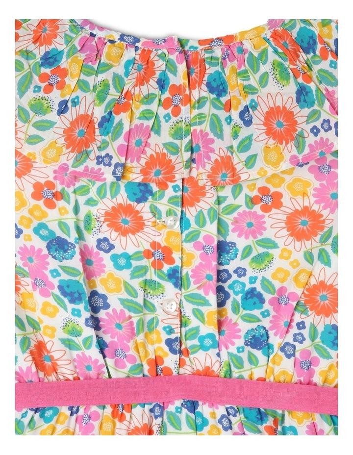Woven Frill Neck Tie Waist Dress image 4
