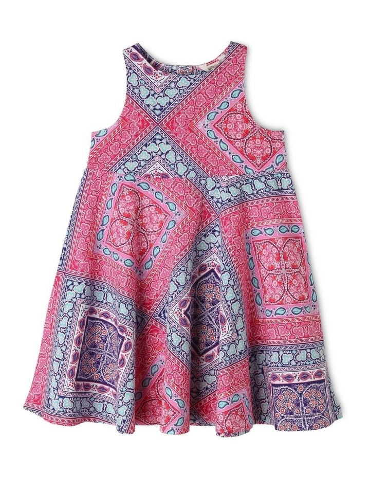 Knit Scarf Print Dress image 1