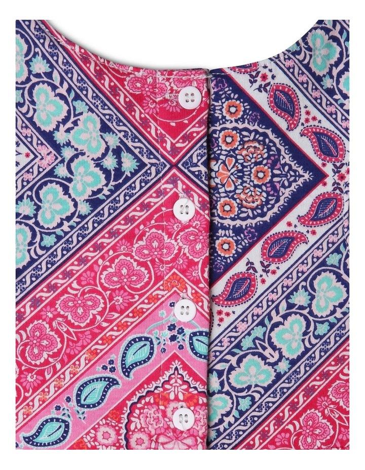 Knit Scarf Print Dress image 3