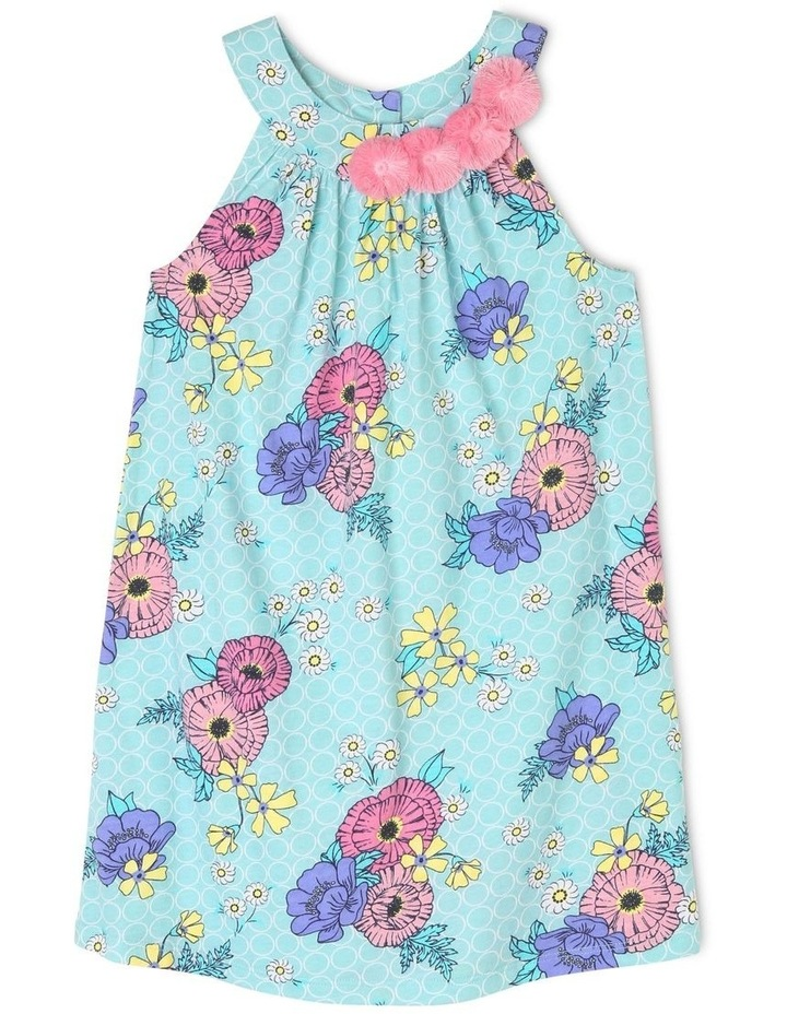 Sleeveless Knit Dress With 3D Flower image 1