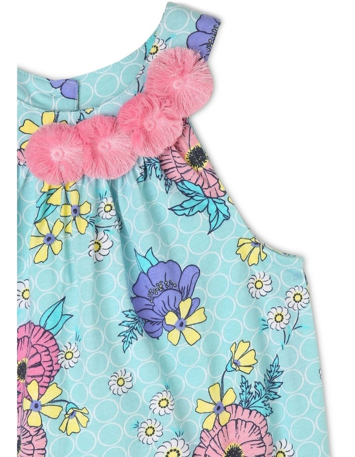 Sleeveless Knit Dress With 3D Flower image 2