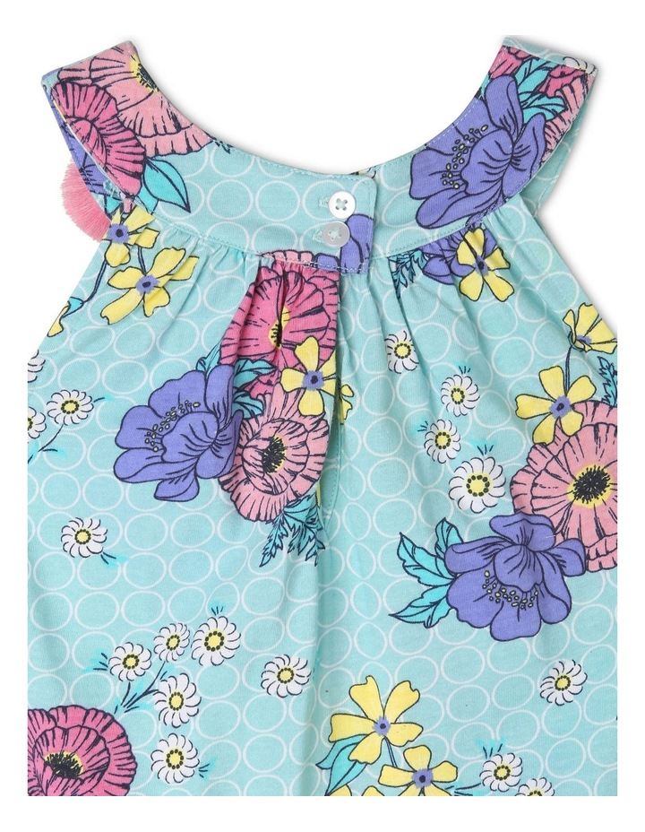 Sleeveless Knit Dress With 3D Flower image 3