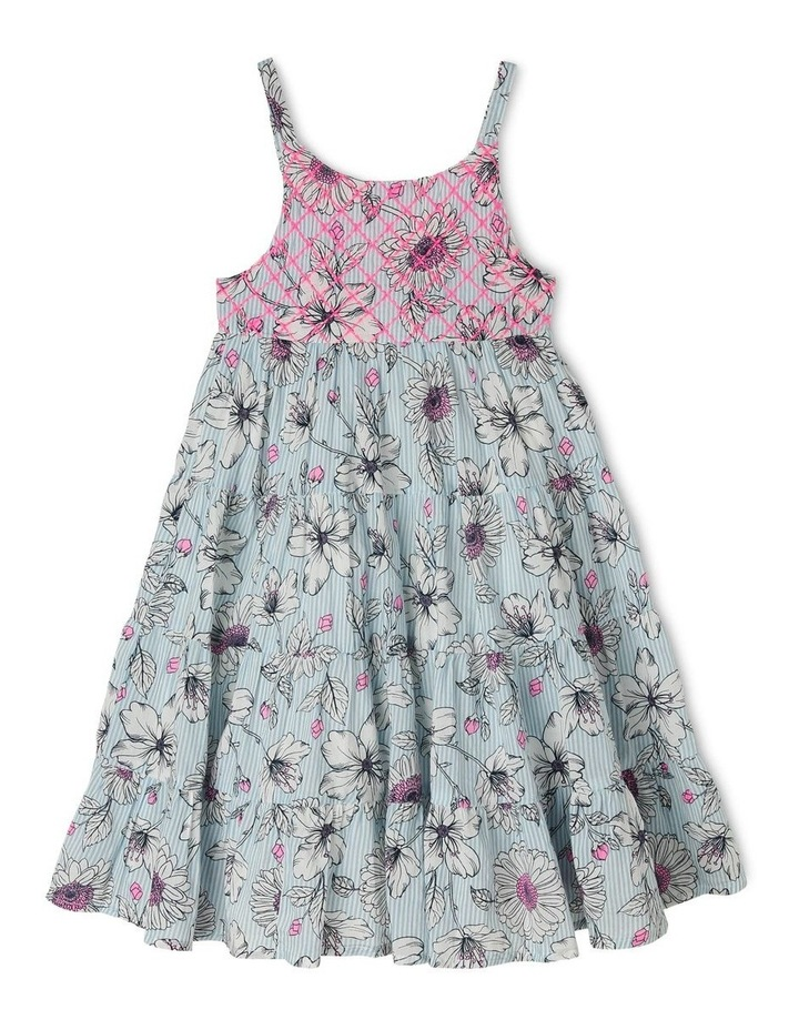 Woven Floral Dress with Shirring image 1