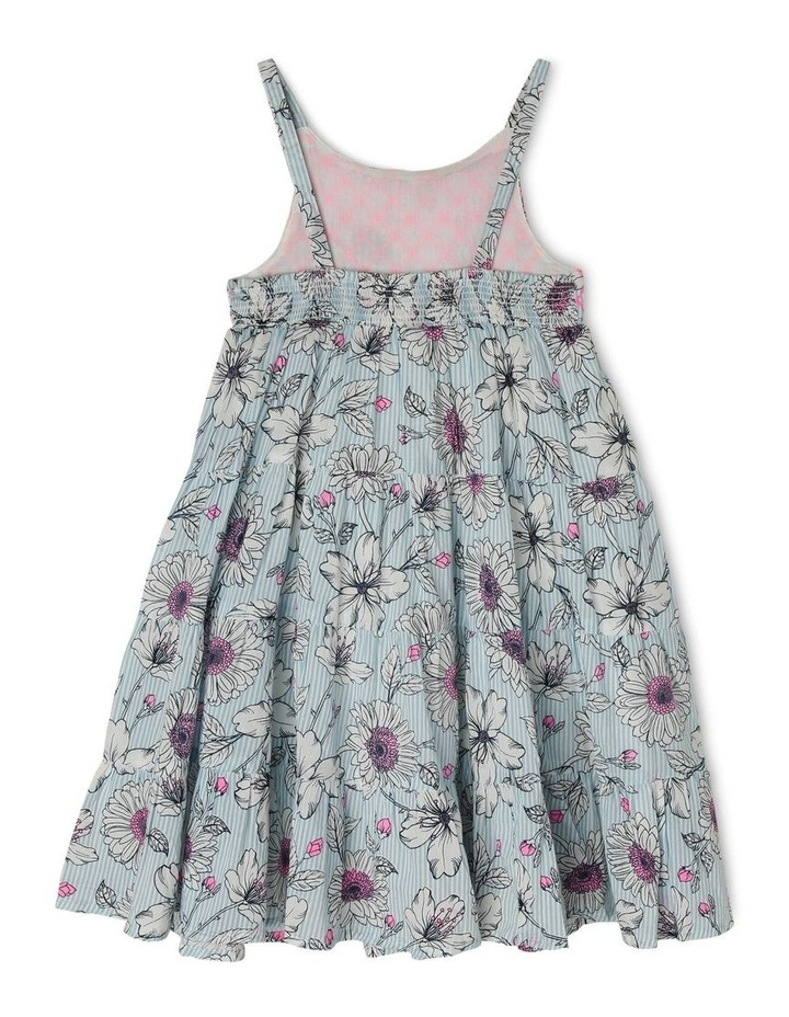 Woven Floral Dress with Shirring image 2
