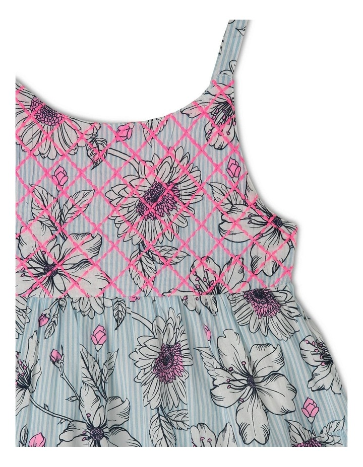 Woven Floral Dress with Shirring image 3