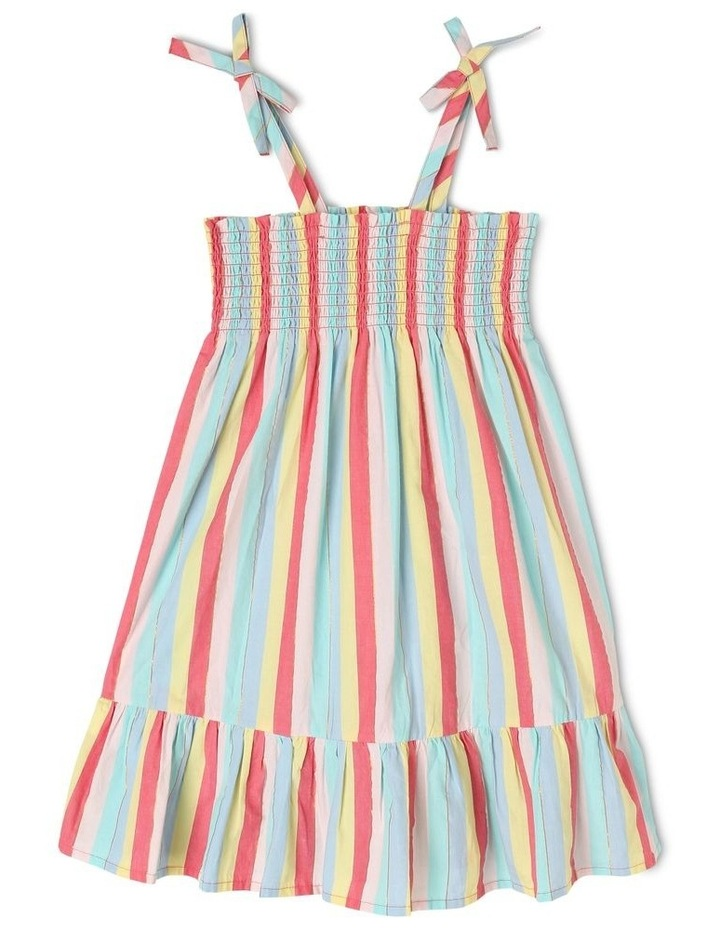 Woven Dress with Shirred Top image 1