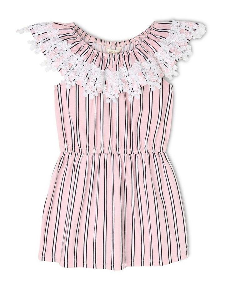 Lace Trim Knit Dress image 1