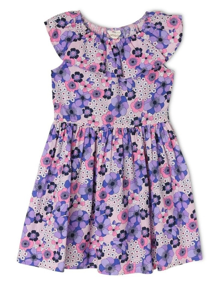 Woven Elastic Waist Frill Dress With Floral Print image 1
