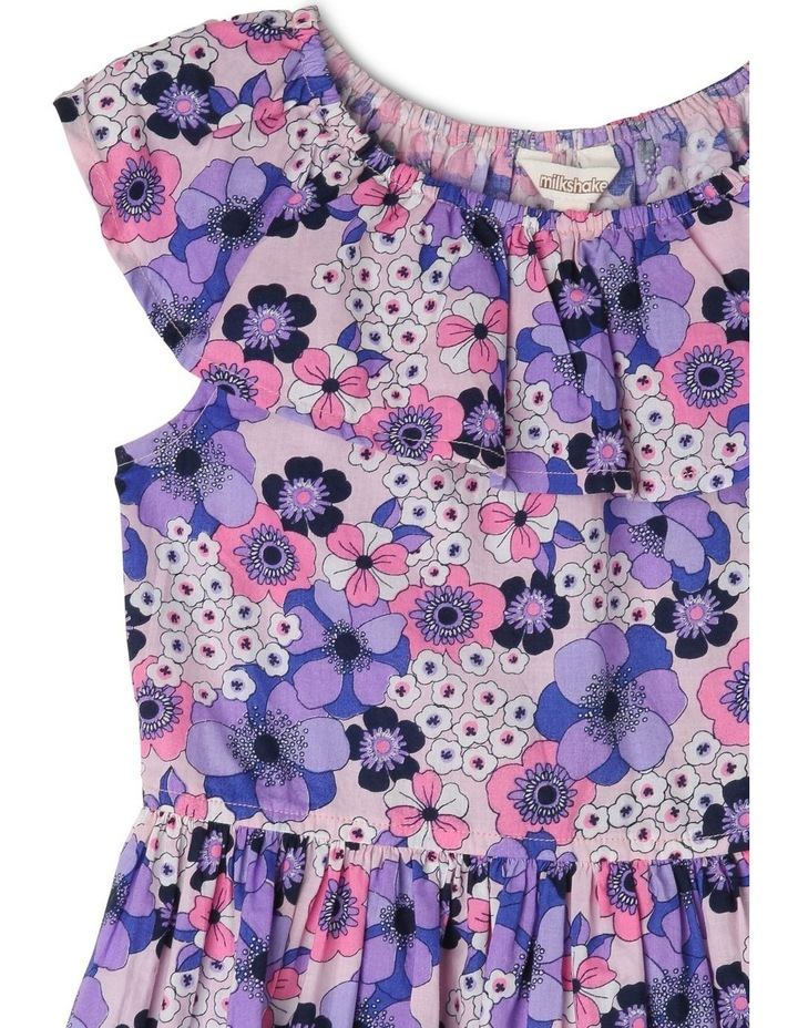 Woven Elastic Waist Frill Dress With Floral Print image 2
