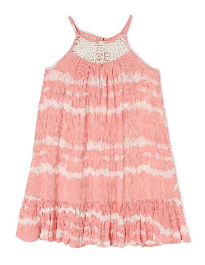 Woven Dress With Tie Dye Lace Yoke image 1