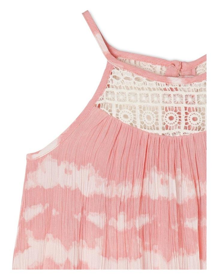 Woven Dress With Tie Dye Lace Yoke image 2