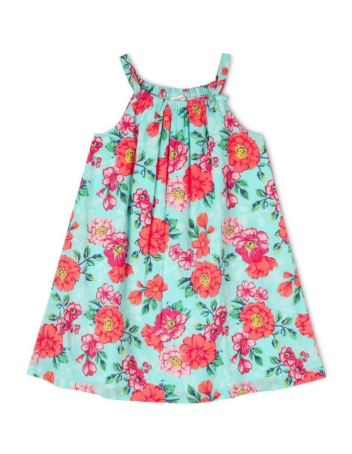 Woven Dress With Bow Neck image 1