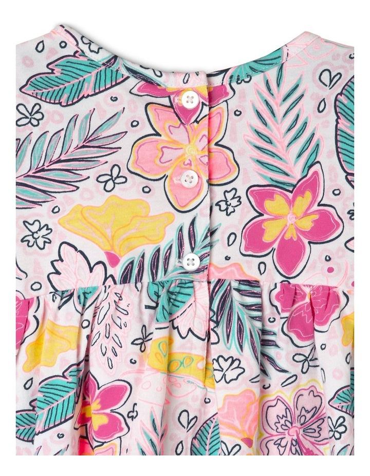 Short Sleeve Knit Dress With Pom Pom image 4