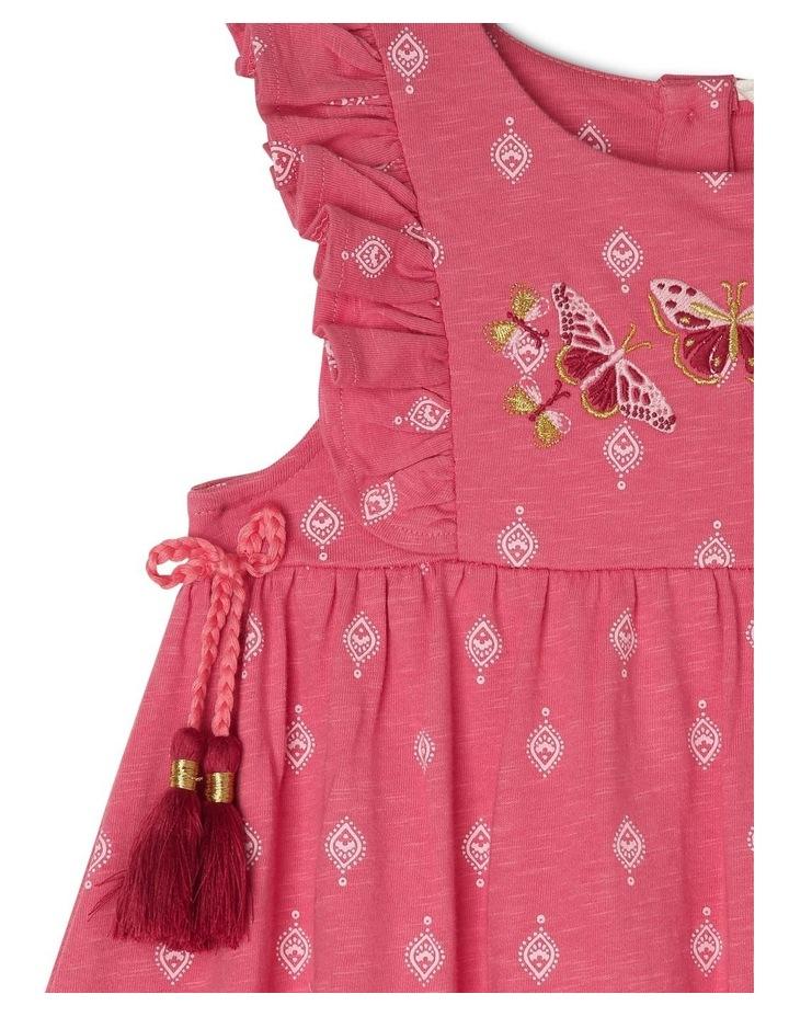 Knit Dress with Embroidery Yoke image 3