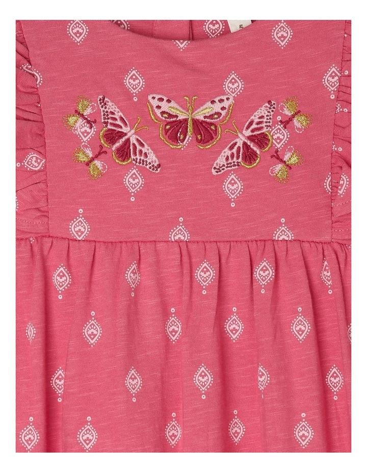Knit Dress with Embroidery Yoke image 4