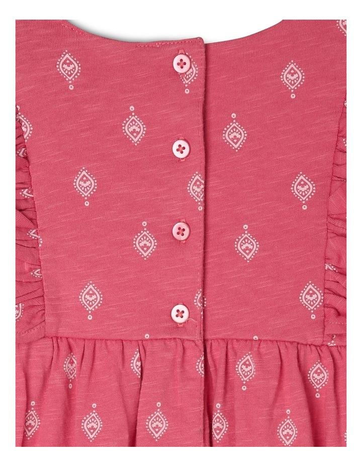 Knit Dress with Embroidery Yoke image 5