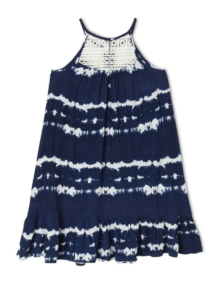 Tie Dyed Woven Dress with Lace Yoke image 2