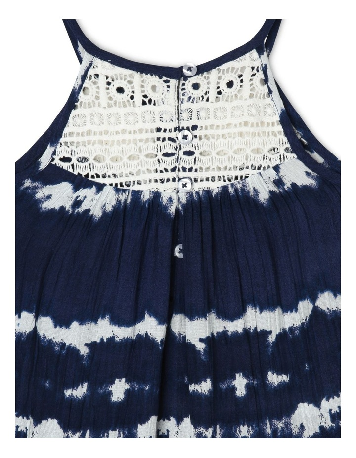 Tie Dyed Woven Dress with Lace Yoke image 4