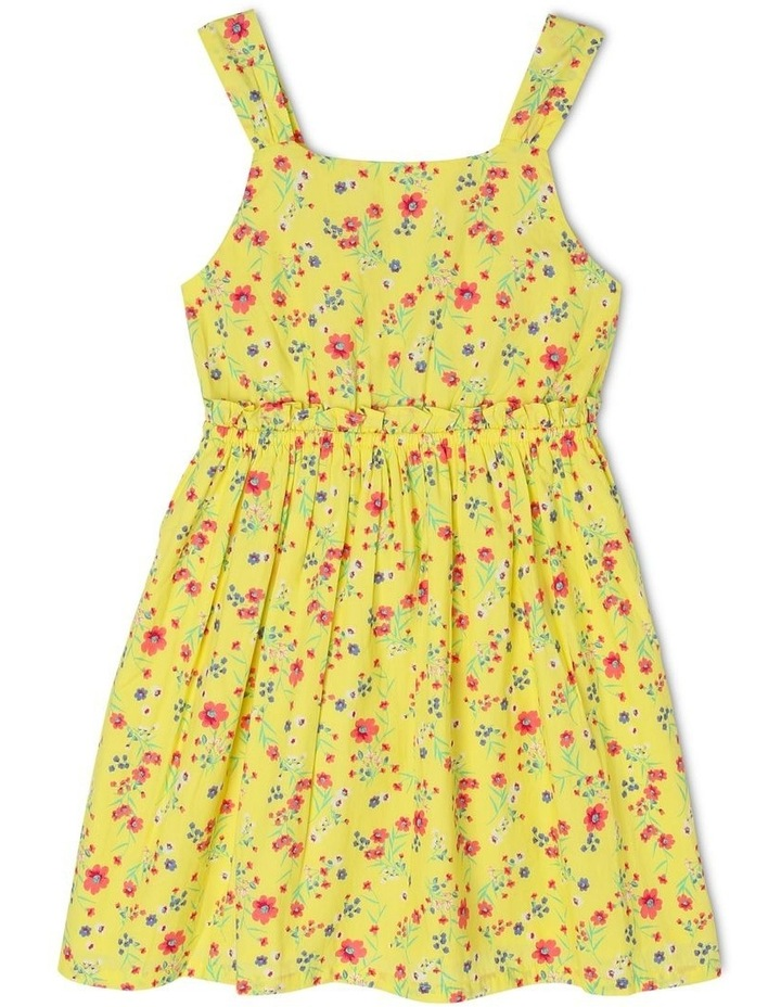 Woven Cut-Out Dress with Bow Detail image 1