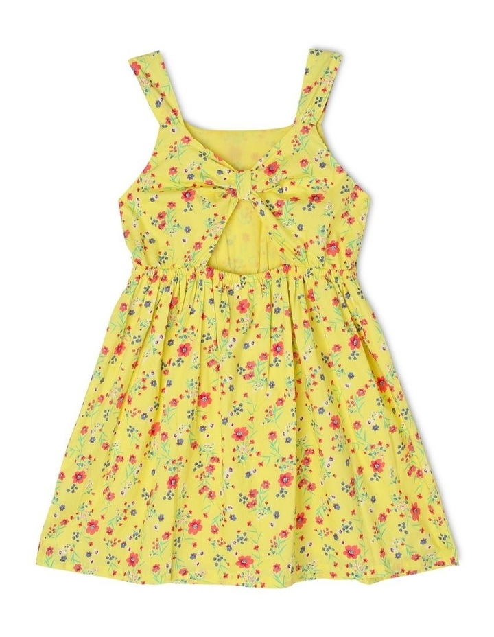 Woven Cut-Out Dress with Bow Detail image 2