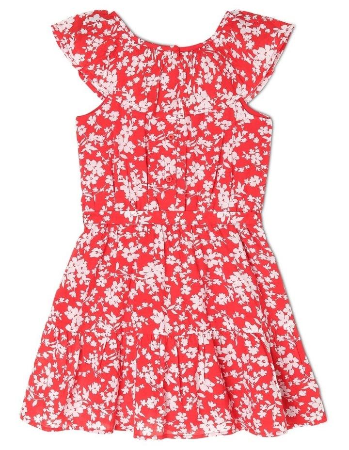 Woven Frill Neck Tie Waist Dress image 2