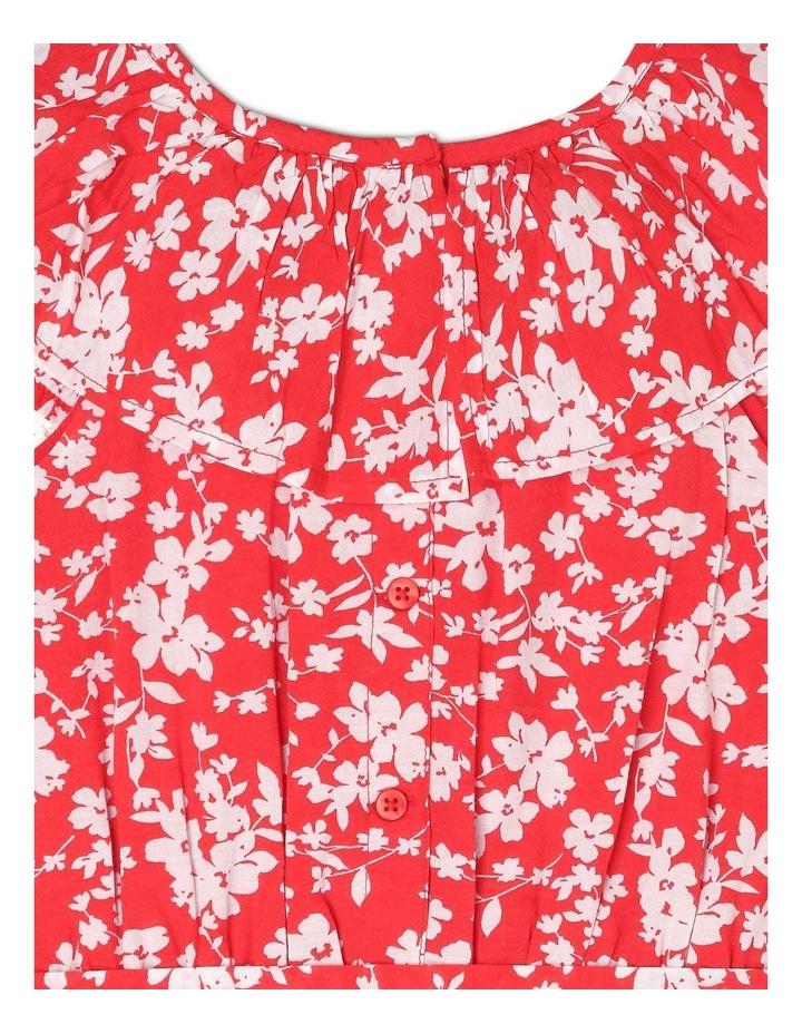 Woven Frill Neck Tie Waist Dress image 5