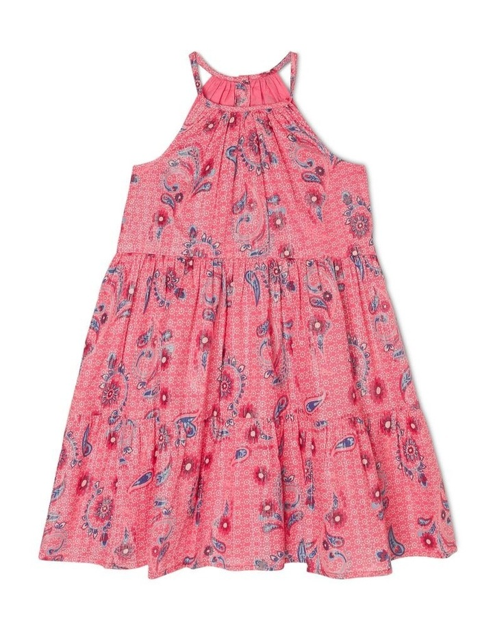 Woven Dress with Scarf Print image 1