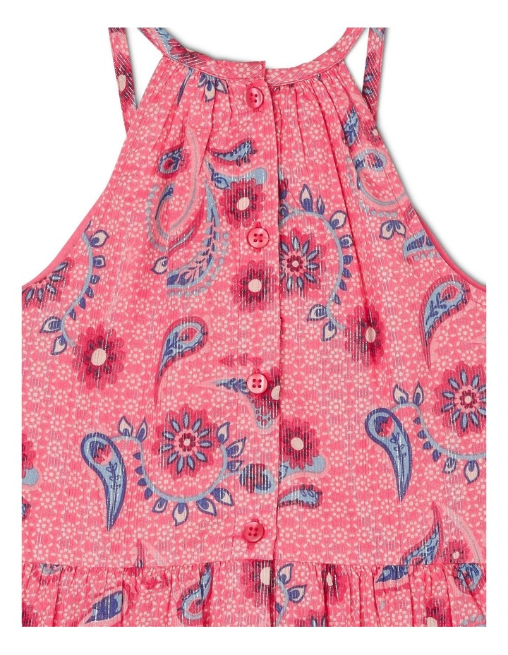 Woven Dress with Scarf Print image 4