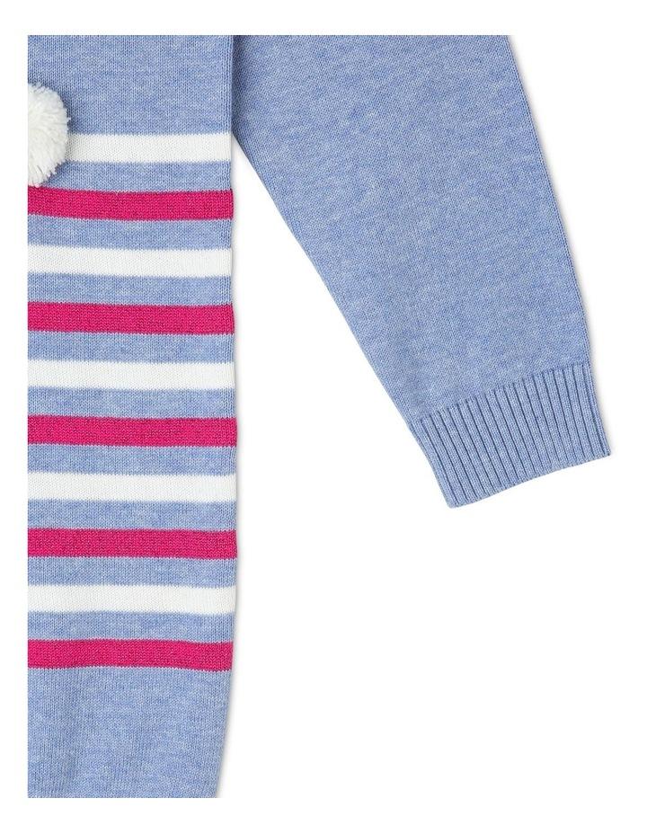 Long Sleeve Knit Intarsia Dress image 3