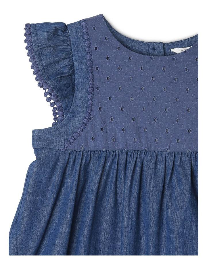 Chambray Dress with Lace Yoke image 2