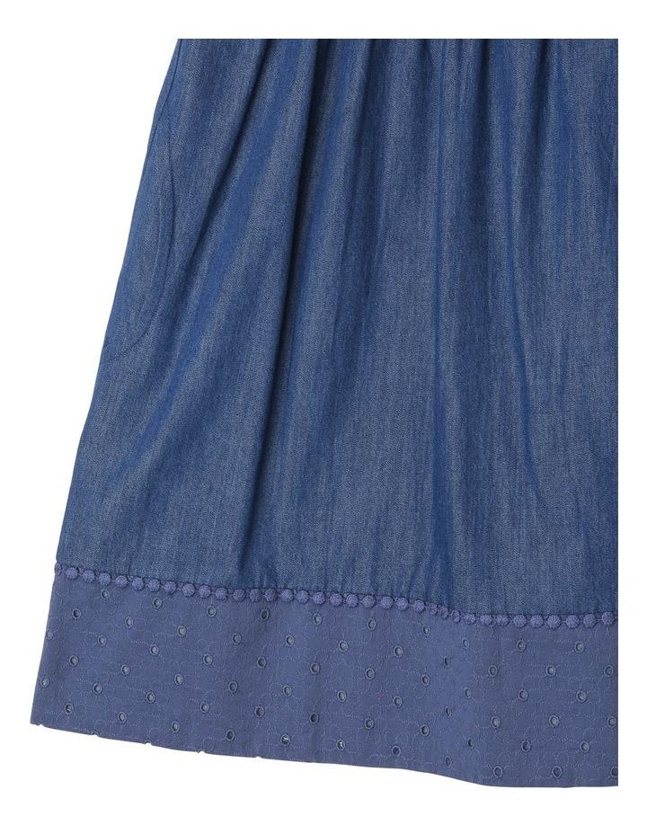Chambray Dress with Lace Yoke image 3