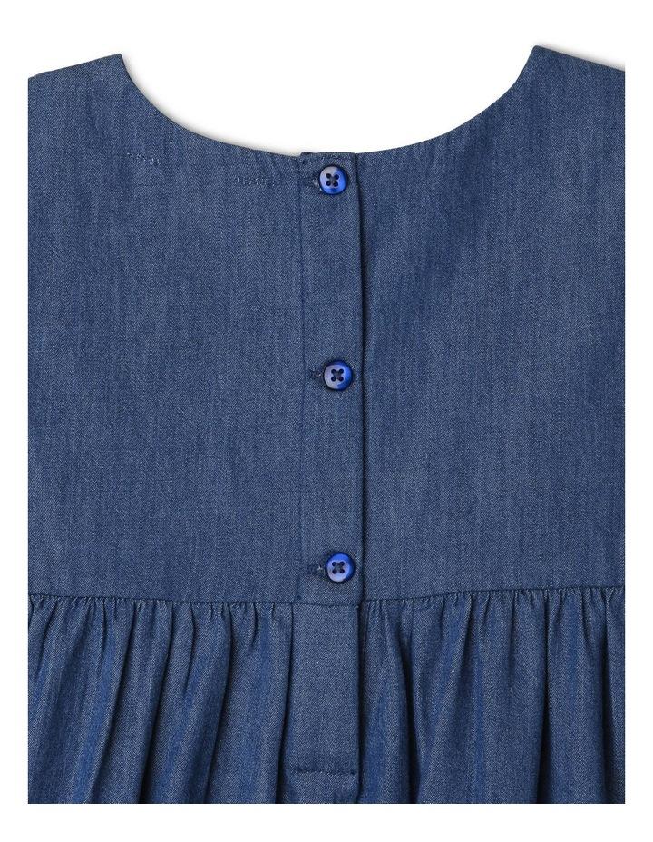 Chambray Dress with Lace Yoke image 4